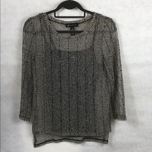 INC 2-Piece Sequined Sweater with Camisole